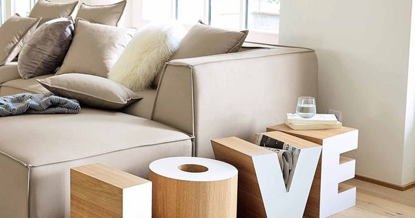 bout de canap en bois blanc l 121 cm love maisons du monde mdm contemporain pinterest. Black Bedroom Furniture Sets. Home Design Ideas