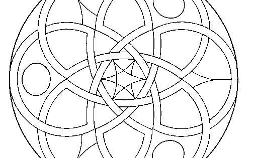 X Men Para Colorear: Dibujo De Mandala 11 Para Pintar Y Colorear En Línea