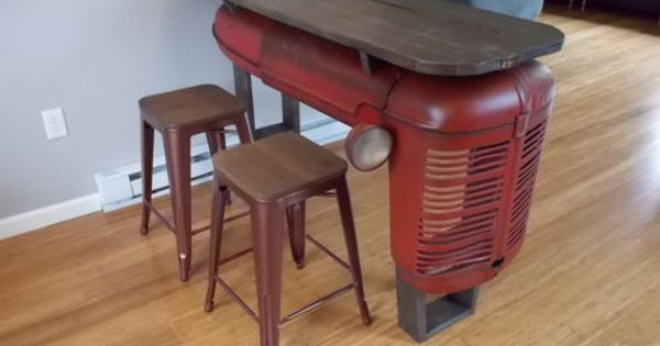 Tractor Mancave Bar Table Upcycled 1945 Ih Farmall 4 Tailgate
