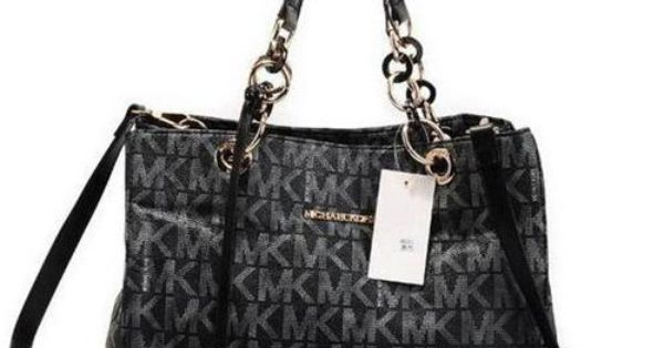 Michael Kors Chain Large Black Satchel shop.mkbagstosale.com Michaelkor is on clearance sale,
