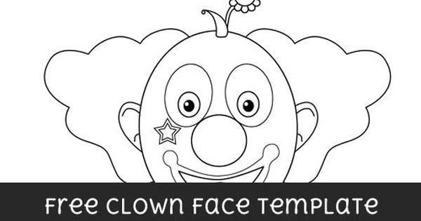 Free Clown Face Template - Large