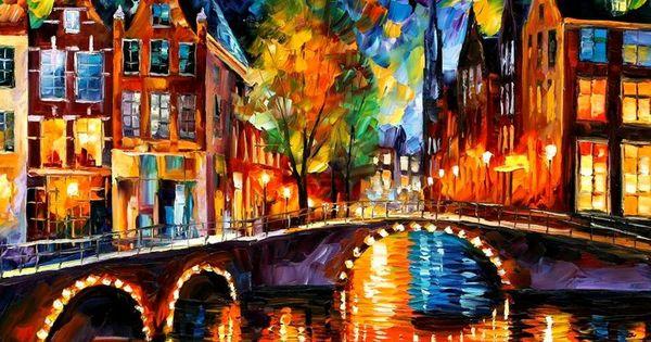 Afremov Art Leonid Oil Paintings | Leonid Afremov- Oil Painter | Make