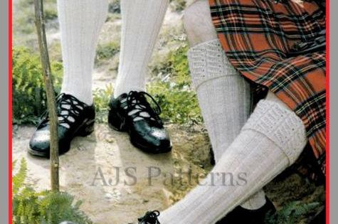 PDF Knitting Pattern For Scottish Kilt Socks/Hose With a Choice of 2 Designs ...