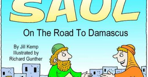 Saul On The Road To Damascus Printable Booklet In Colour Or Black