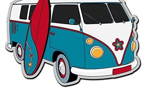 vw van surfboard decal sticker mercari the selling app vans stickers vinyl stickers laptop van pinterest