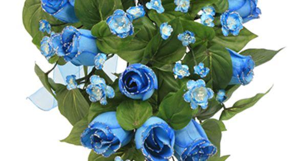 Ramos De 15 Anos: Ramo De Flores Azules Para Quinceañera. Arreglo De Flores