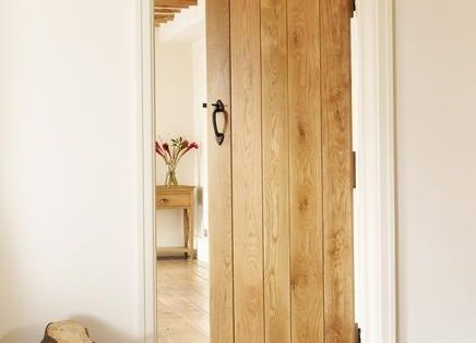 Solid oak ledged and braced internal doors. Doing all the doors like