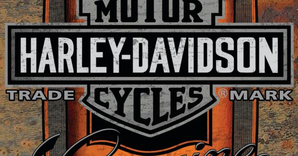 Harley davidson oil can label sign tin sign at allposters for Harley davidson decorations for home