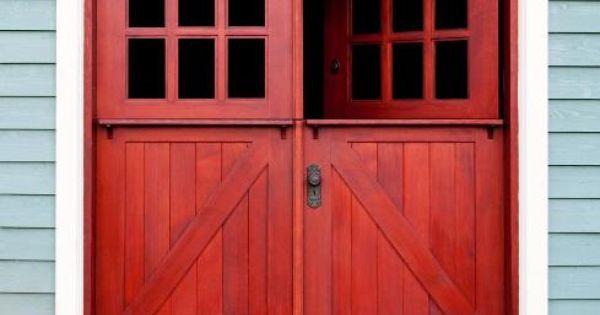 Red Double Dutch The Perfect Farm Front Doors Doors Pinterest Front
