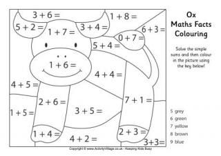 Horse Maths Facts Colouring Page Math Pages Math Facts Math