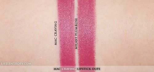 MAC Craving Lipstick Dupe </p>                     </div> 		  <!--bof Product URL --> 										<!--eof Product URL --> 					<!--bof Quantity Discounts table --> 											<!--eof Quantity Discounts table --> 				</div> 				                       			</dd> 						<dt class=