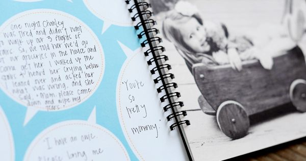photo book with kid quotes