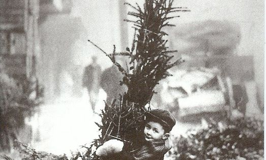 Vintage photo on Christmas time
