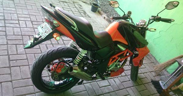 Modifikasi Honda Motor Tiger 2000 Tahun 2006 Hitam Orange