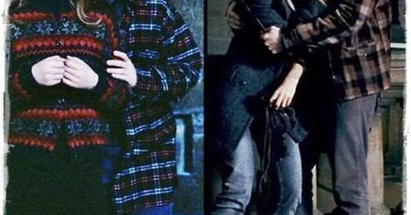 Ron and Hermione. I love how in the first picture, he's hiding
