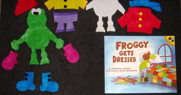 Froggy gets dressed felt board story set via etsy for Froggy gets dressed template