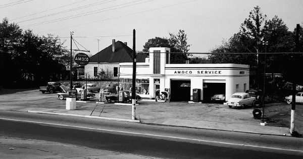 Amoco Gas Old Gas Stations Pinterest Art Deco Deco