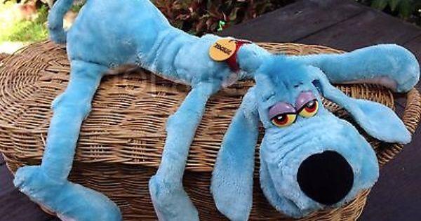 vintage 1984 r dakin foofur blue dog plush stuffed animal by phil mandez your missing toys. Black Bedroom Furniture Sets. Home Design Ideas