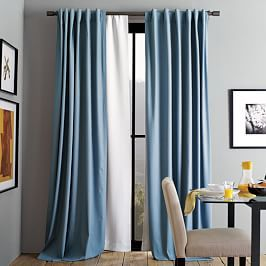 Textured Weave Curtain Blackout Lining Ivory Velvet Curtains