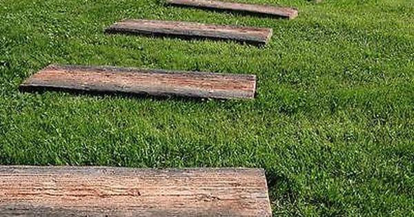 Trittplatten Langlich Mit Tauschend Echter Holzstruktur Lieferung Moglich Ebay Trittsteine Garten Gerateschrank Garten Trittsteine