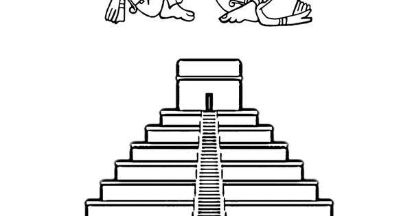 mayan pyramid coloring pages - photo#8