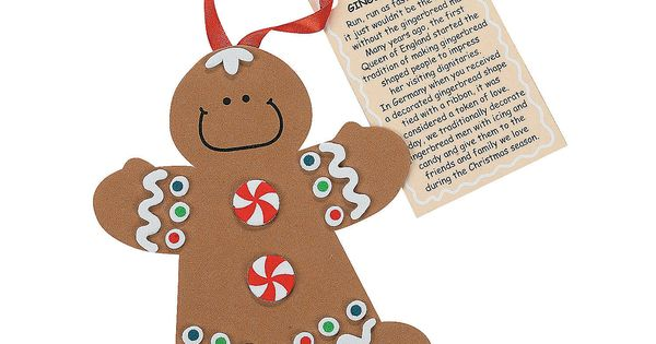 """Legend Of The Gingerbread Man"" Christmas Ornament Craft"