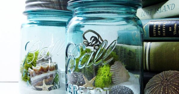 The beach in a jar- also idea for wedding & honeymoon keepsakes...or