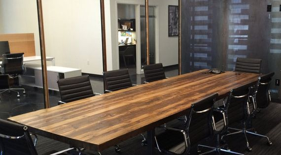 Conference Table In Standard Top Reclaimed Wood And