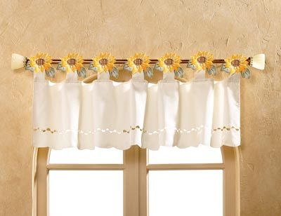 How To Decorate A Kitchen In A Sunflower Theme Kitchen Window Valances Kitchen Curtains And Valances Shabby Chic Wallpaper