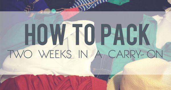 Packing light - two weeks in a carry on. Great tips! travel