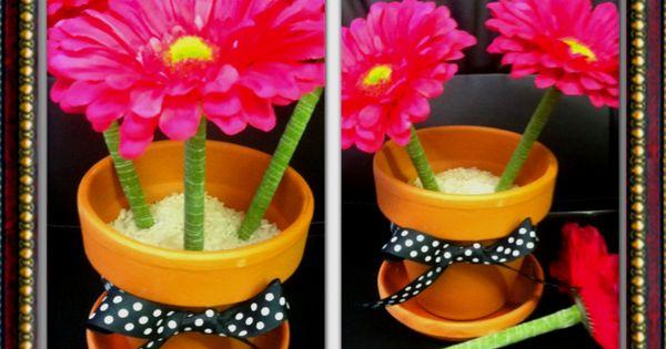 diy flower pen  but with zebra flowers