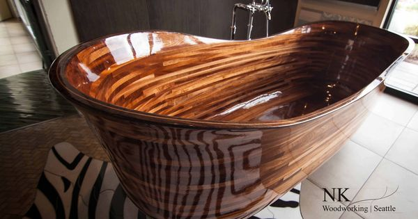 gorgeous wooden bathtubs by nk woodworking design