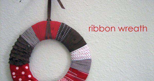 Ribbon Wreath Tutorial - LOVE!