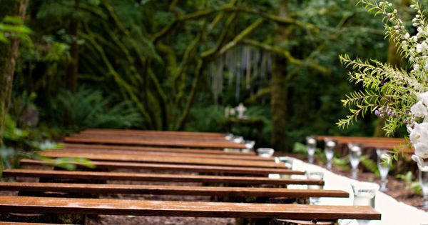Rustic Wood Benches Wedding Ceremony Rustic Wood Bench