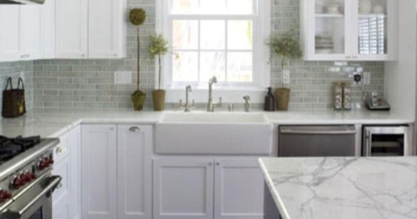 kitchen cabinets and counter tops gorgeous kitchen with light green blue subway tiles 7988