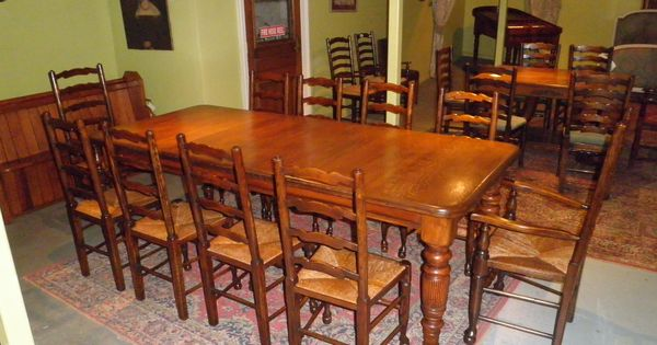 Superb scottish oak antique dining table 3200 a for 10 seater solid oak dining table
