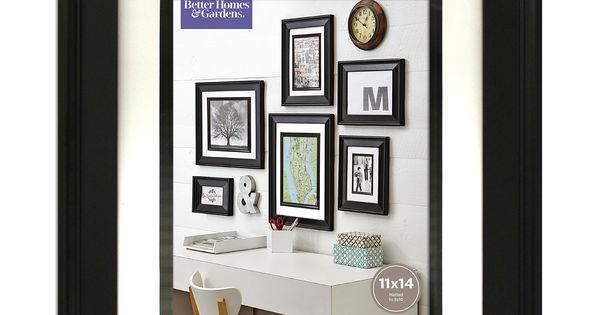 2dcf652ff70eec868669892bce6655e0 - Better Homes And Gardens 8x10 Matted Beveled Black Picture Frame