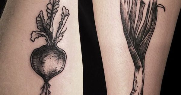 These 14 Vegetable Tattoos Will Make You Check Your Diet