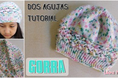 Talles Del Saquito Paso A Paso Crochet Tejer Dos Agujas Gorros Tejidos De Niña Gorro Tejido Dos Agujas