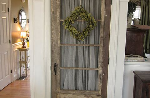 Down to Earth Style: Use old door for interior pantry door, basement