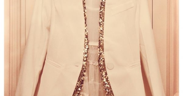 Sparkle Trim Blazer. I should do this to my white blazer