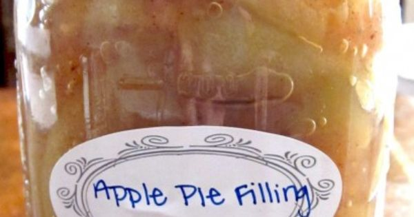 Canning recipe for apple pie filling. Each jar makes one pie. This