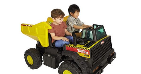 Tonka Construction Toys For Boys : Tonka dump truck volt powered ride on dynacraft
