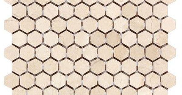 Seven Seas Crema Marfil 1 X 1 Marble Honeycomb Mosaic Wall Floor Tile Wayfair In 2020 Hexagonal Mosaic Modern Floor Tiles Honeycomb Tile