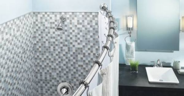 Straight Vs Curved Shower Rods Shower Rod Shower Curtain Rods