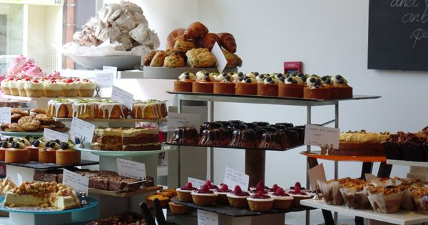 Pastries on display at ottolenghi london buffet area for Chambre de commerce francaise a londres