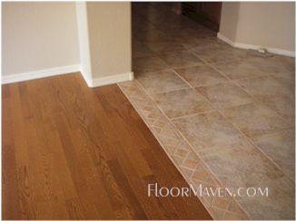Red Oak Tile Transition Transition Flooring Flooring Tile To Wood Transition