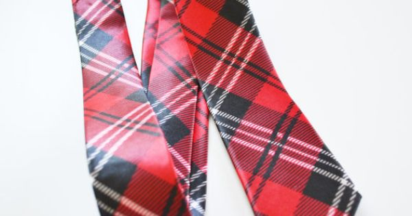 Mens Tie Red and Black Modern Tartan Pattern Skinny by TiestheKnot, $8.99 | See more about Men Ties, Tartan and Ties.