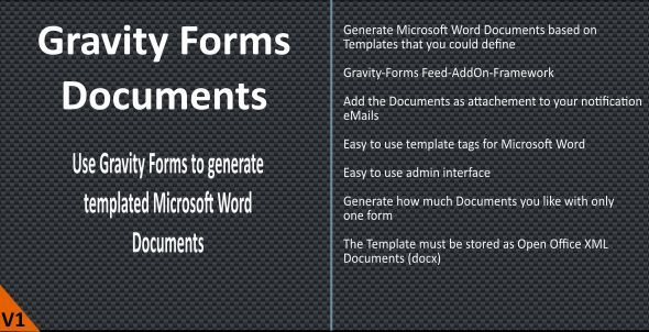 Gravity Forms Word Documents By Naranili Welcome To The Gravity Forms Document Plugin Easily G Word Template Microsoft Word Document Microsoft Word Templates