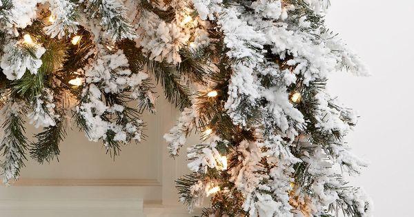 Kurt Adler Christmas Decoration 9 Pre Lit Flocked Norway